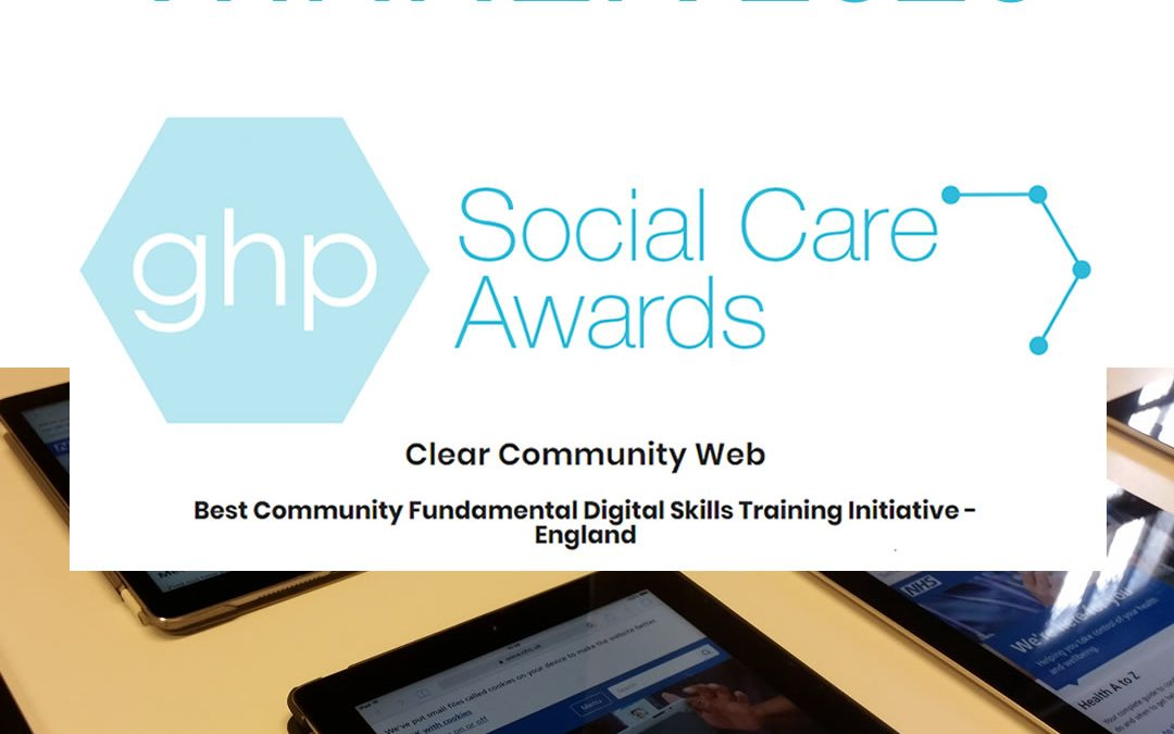 Best Community Fundamental Digital Skills Training Initiative – GHP Social Care Awards 2020!!!